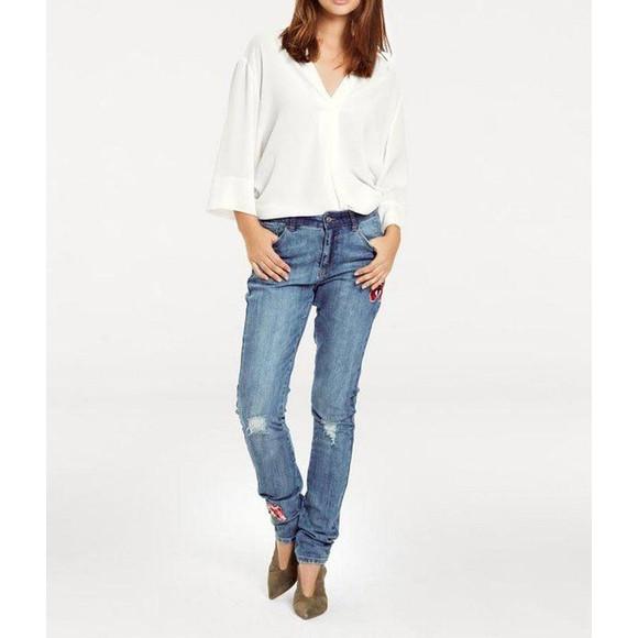 Boyfriend-Jeans m. Patches, blau von Heine - Best...