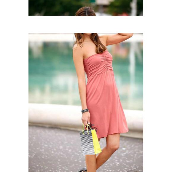 2-in-1-Style-Kleid-Rock, lachs von Chillytime