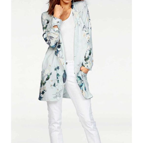 Jersey-Mantel, grau-bunt von Laura Scott