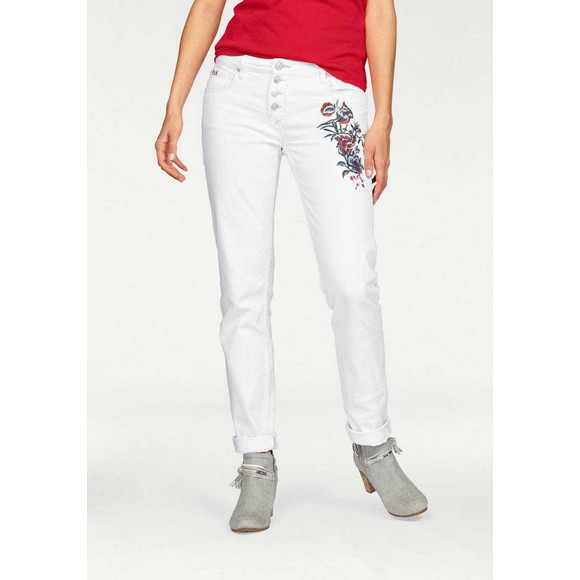 Jeans MONROE m. Stickerei, weiß, 31 inch von H.I.S.