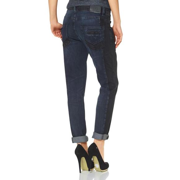 Boyfriend-Jeans, blau-schwarz von Marc O´Polo