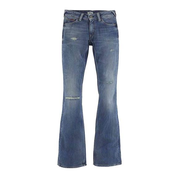 Damen-Jeans, blau-used, 32 inch von TOMMY HILFIGER DENIM