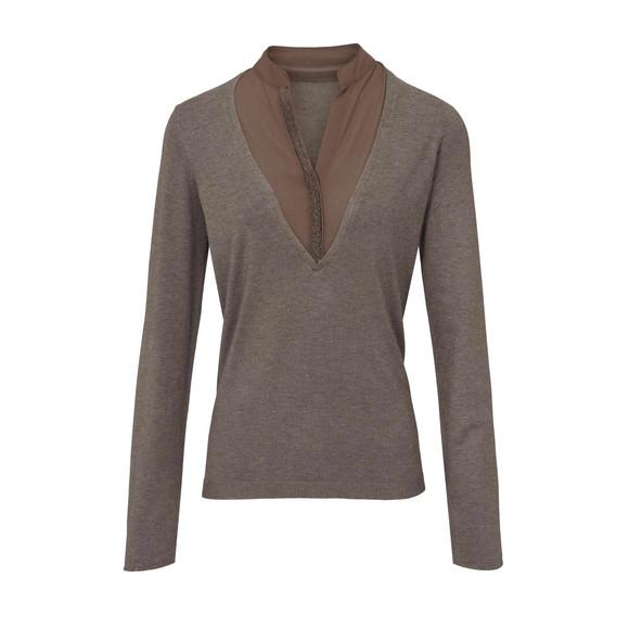 2-in-1-Pullover, taupe von Heine
