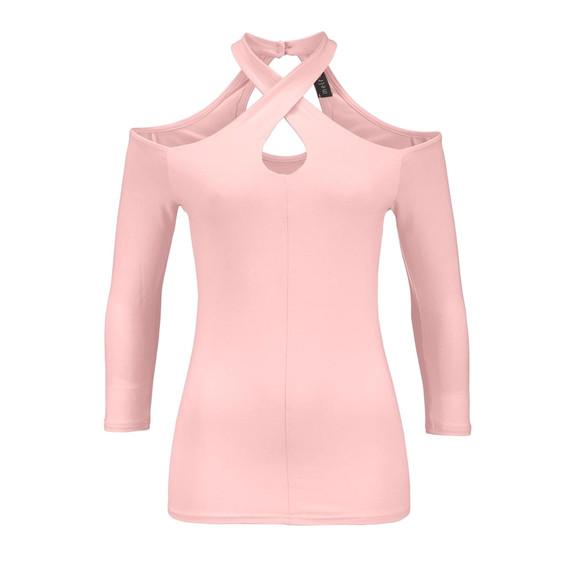 Cut-Out-Shirt, rosé von Melrose