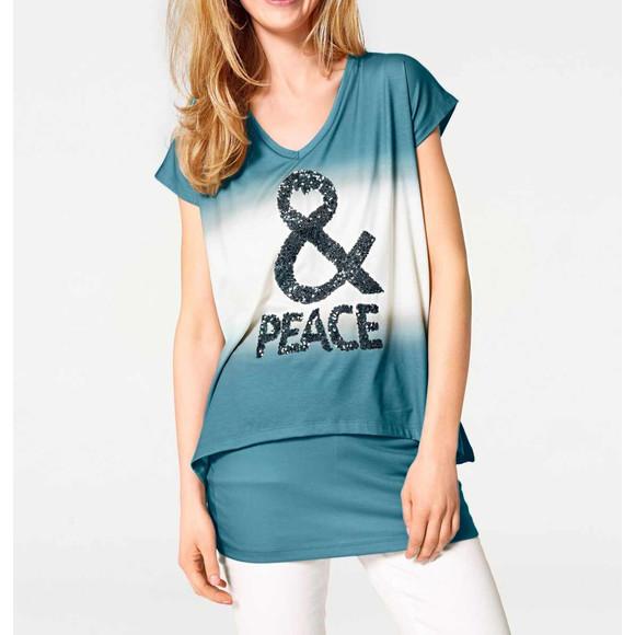 2-in-1-Shirt m. Pailletten, türkis von Heine - Best...
