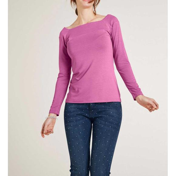 Carré-Jerseyshirt, pink von Heine