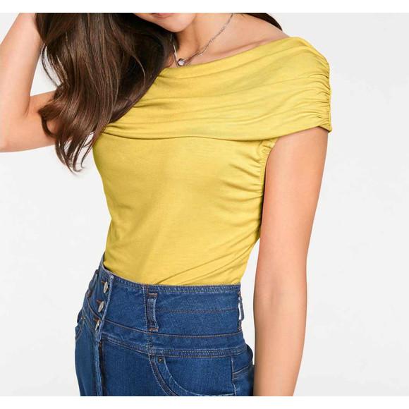 Carmenshirt, gelb von Ashley Brooke