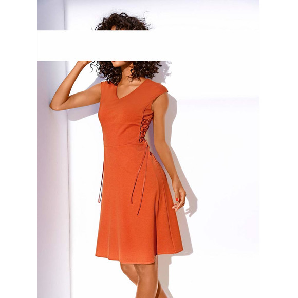 Bodyforming-Prinzesskleid, orange von Ashley Brooke Grösse 38