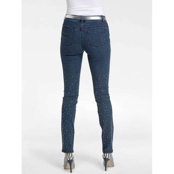 Optimizer-Jeans m. Nieten, dunkelblau von Ashley Brooke Grösse 38