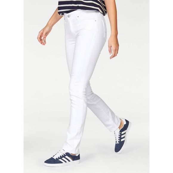 Damen-Stretch-Jeans, weiß, 34 inch von CROSS Grösse 28