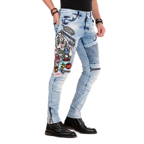 Cipo & Baxx CD490 Jeans RIDE FORVER mit Streetstyle Aufnäher
