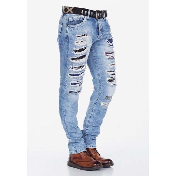 Cipo & Baxx CD131 Jeans OASIS mit Ripped Details W38...